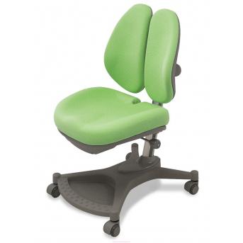 Кресло Mealux Neapol c двойной спинкой (арт.Y-132 KZL) серебристый металл / обивка зеленая однотонная