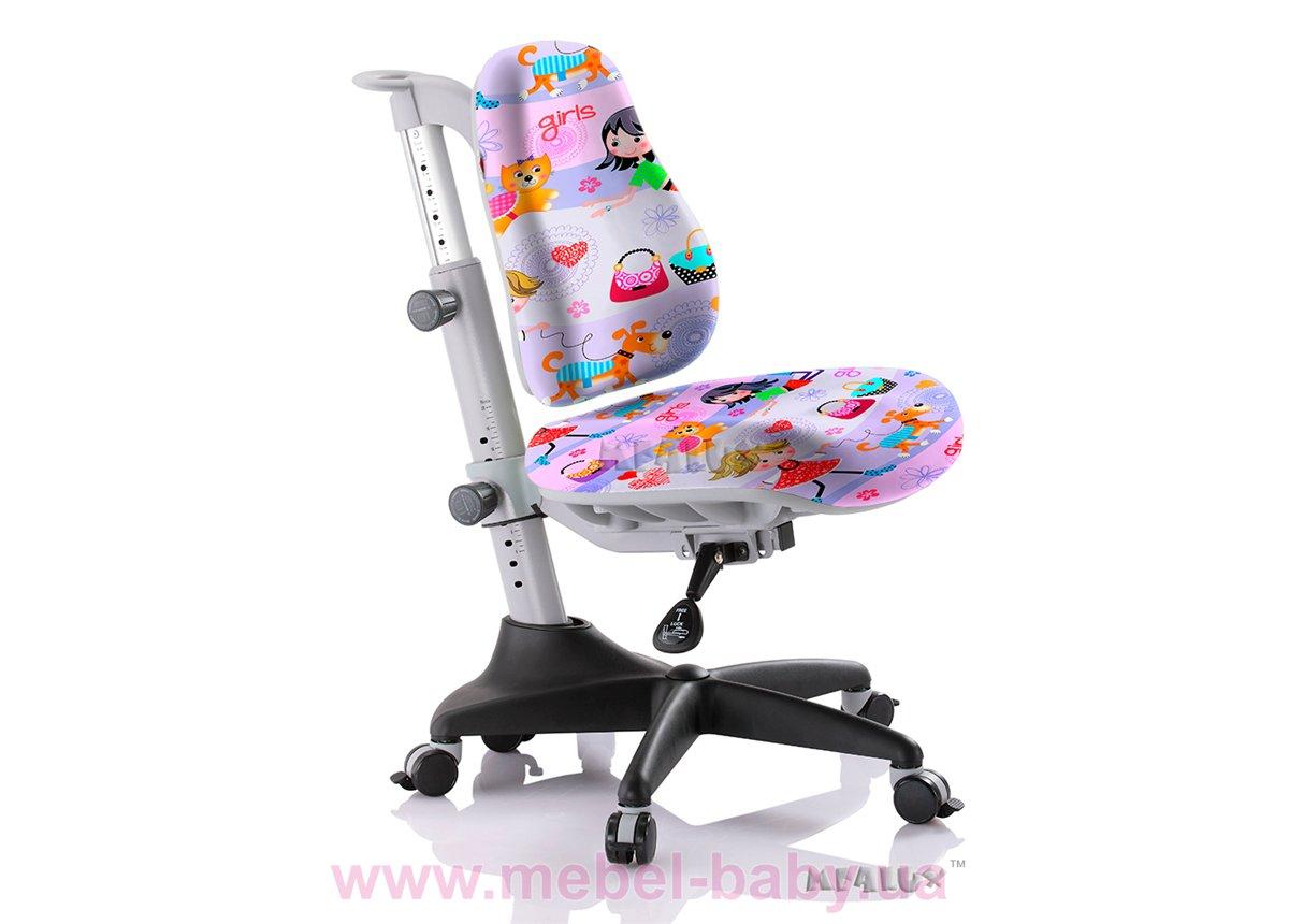 Кресло Mealux Match GL (арт.Y-527 GL) обивка сиреневая с девочками