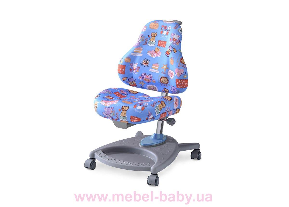 Кресло Mealux Florencia CBK (арт.Y-410 CBK) обивка голубая цирк