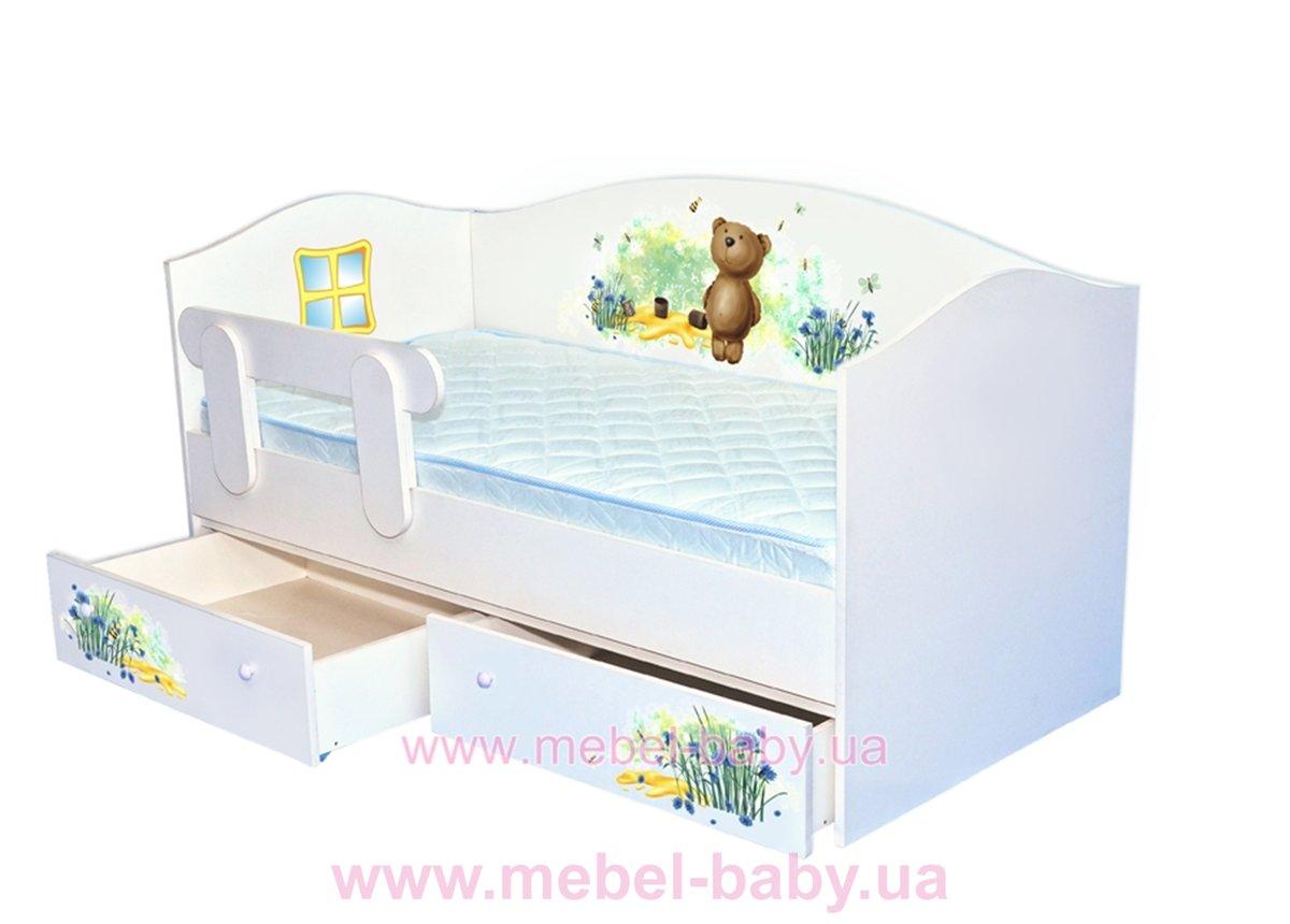 Кроватка диванчик 80x160 Мишка/Мед