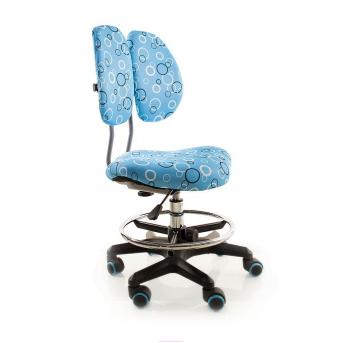Кресло Evo-kids Simba BO (арт.Y-416 BO) обивка синяя с кольцами (коробок-1 шт.)