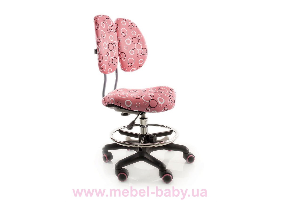 Кресло Evo-kids Simba BO (арт.Y-416 BO) обивка розовая с кольцами (коробок-1 шт.)