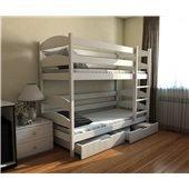 Кровать двухъярусная-трансформер Лакки (масив) Луна 80x190