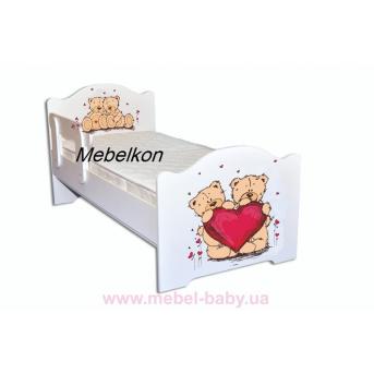 Кроватка Эксклюзив 80x160 Мишки