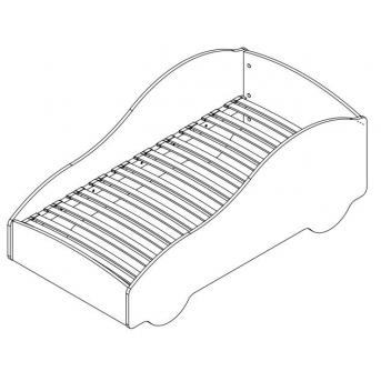 Спальное место из ламелей для Кроватей-машин Viorina-Deko