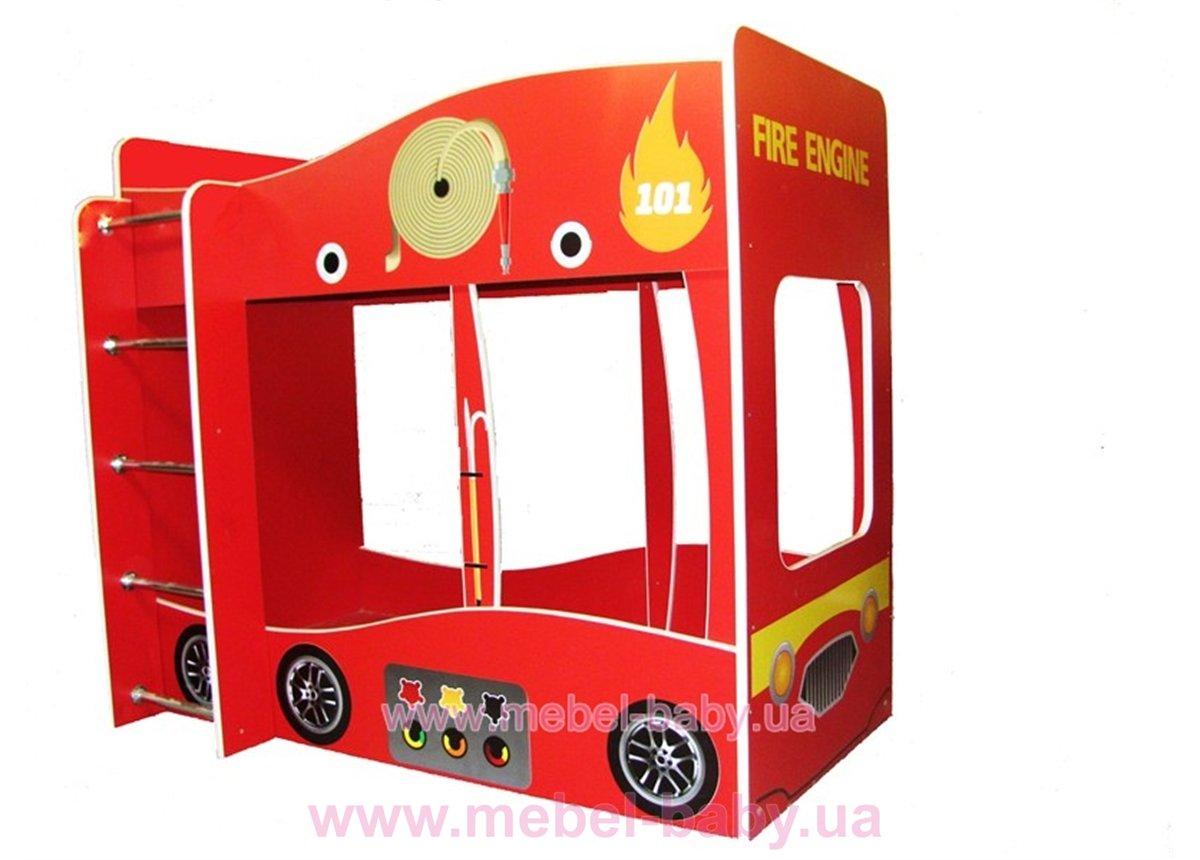 Кровать Пожарная 2-ух ярусная Форсаж Ф-0002 170x80