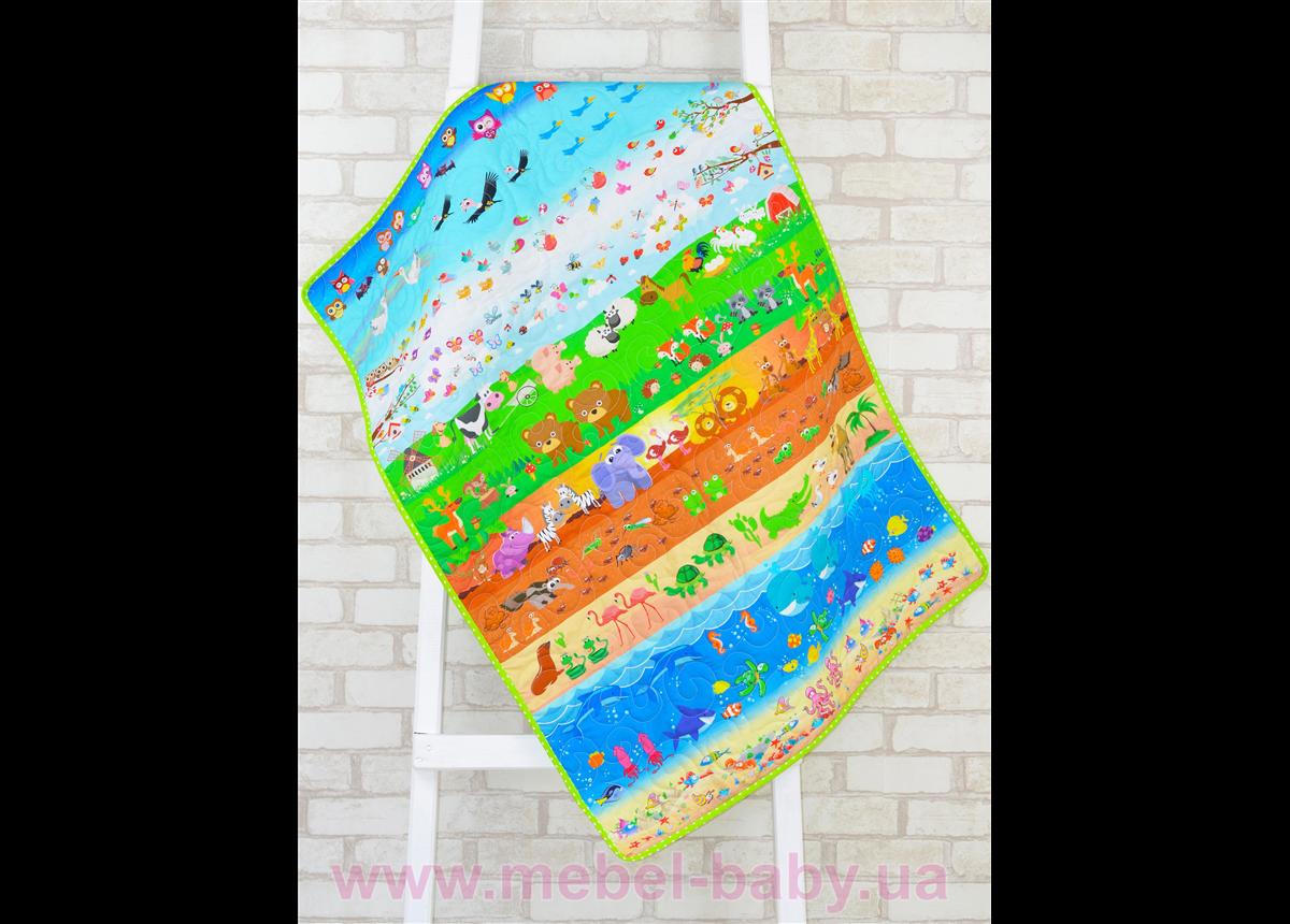 Эко плед-одеяло с конопляным наполнителем «В мире животных»
