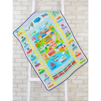 Эко плед-одеяло с конопляным наполнителем «Городок»