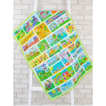 Эко плед-одеяло с конопляным наполнителем «Детские рисунки»