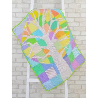 Эко плед-одеяло с конопляным наполнителем «Волшебное дерево»