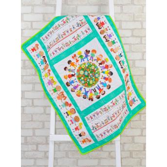Эко плед-одеяло с конопляным наполнителем «Счастливые детки»