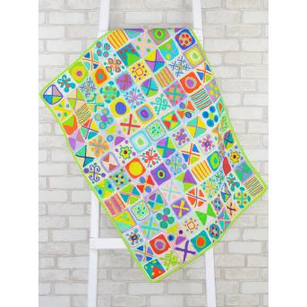 Эко плед-одеяло с конопляным наполнителем «Крестики-нолики»