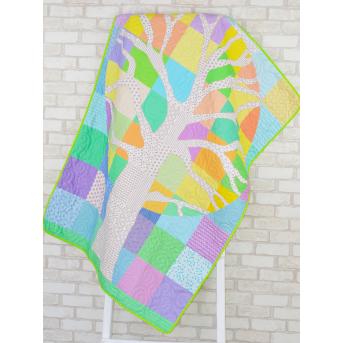 Эко покрывало-одеяло с конопляным наполнителем «Волшебное дерево»