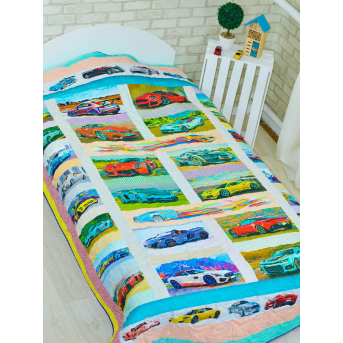 Эко покрывало-одеяло с конопляным наполнителем «Суперкарс»