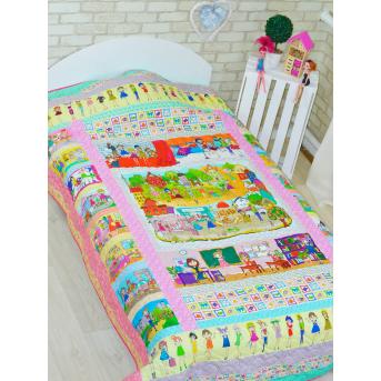 Эко покрывало-одеяло с конопляным наполнителем «Модницы»