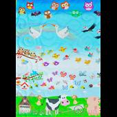 Конверт-одеяло на выписку с конопляным наполнителем «В мире животных»