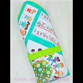 Конверт-одеяло на выписку с конопляным наполнителем «Счастливые детки»