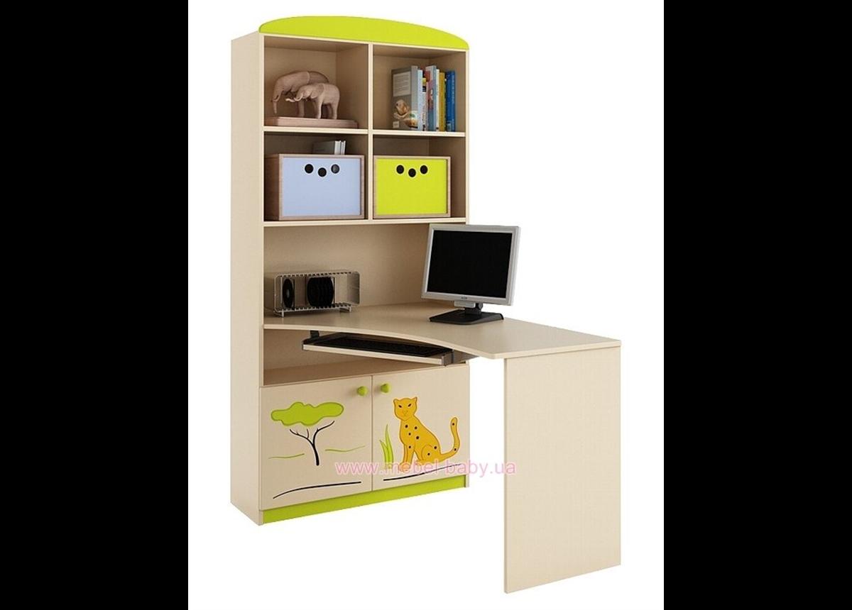 83_Письменный стол-стеллаж 90 левый Savanna