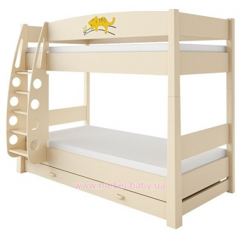 180_2-х ярусная кровать Savanna 90x190 Дерево Бежевый