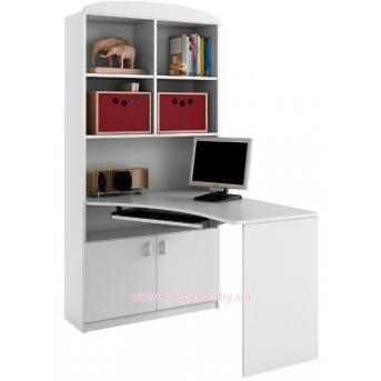 83_Письменный стол-стеллаж 90 левый Basic