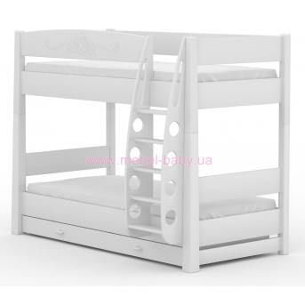180_2-х ярусная кровать Bianco Fiori