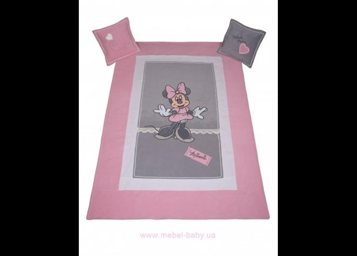 906_Покрывало и 2 подушки Minnie Mouse