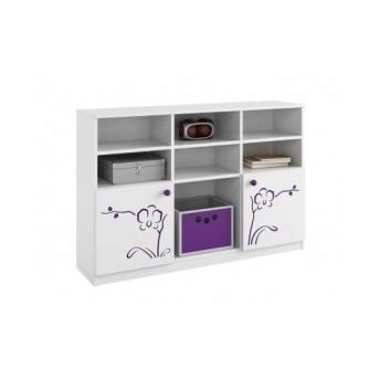 89_Стеллаж 90x135 Низкий Orchidea violet