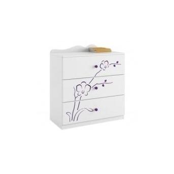 1 Комод 90 Orchidea violet Meblik Белый