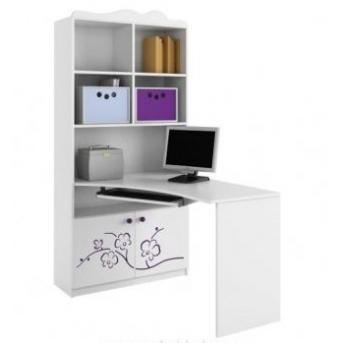 83_Письменный стол-стеллаж 90 левый Orhidea violet
