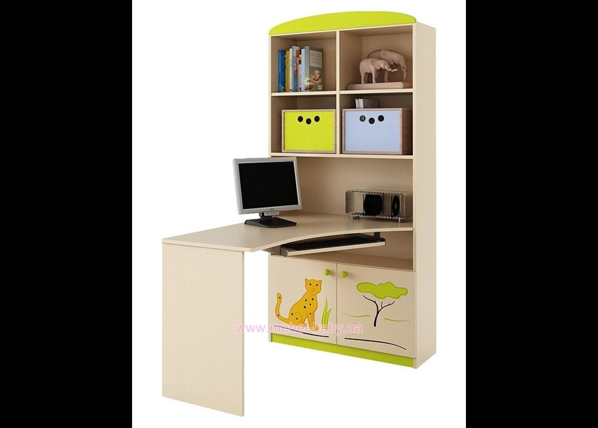 82_Письменный стол-стеллаж 90 Правый Savanna
