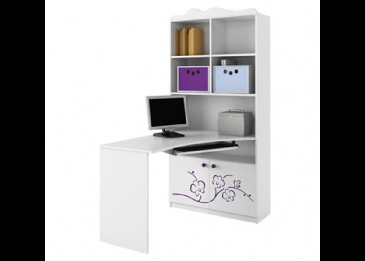 82_Письменный стол-стеллаж 90 Правый Orhidea Violet