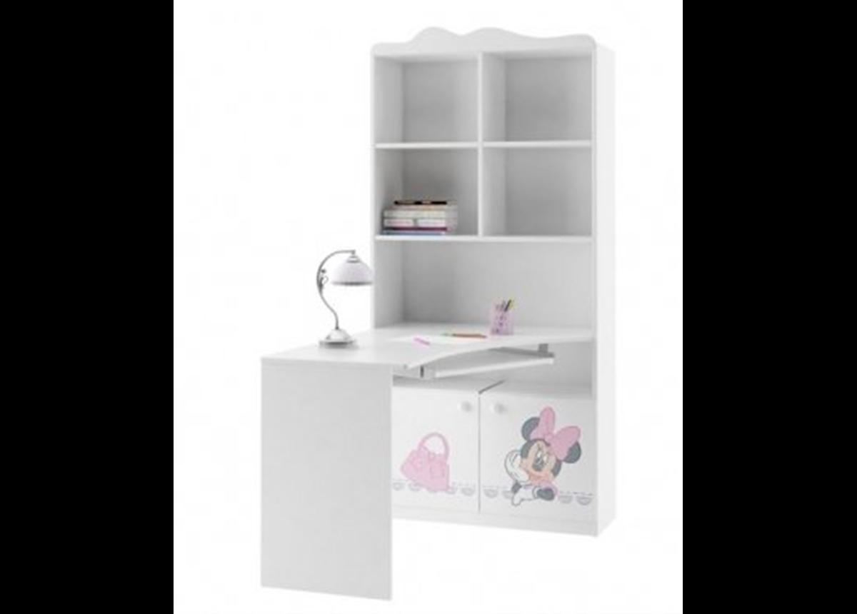 82_Письменный стол-стеллаж 90 Правый Minni Mouse