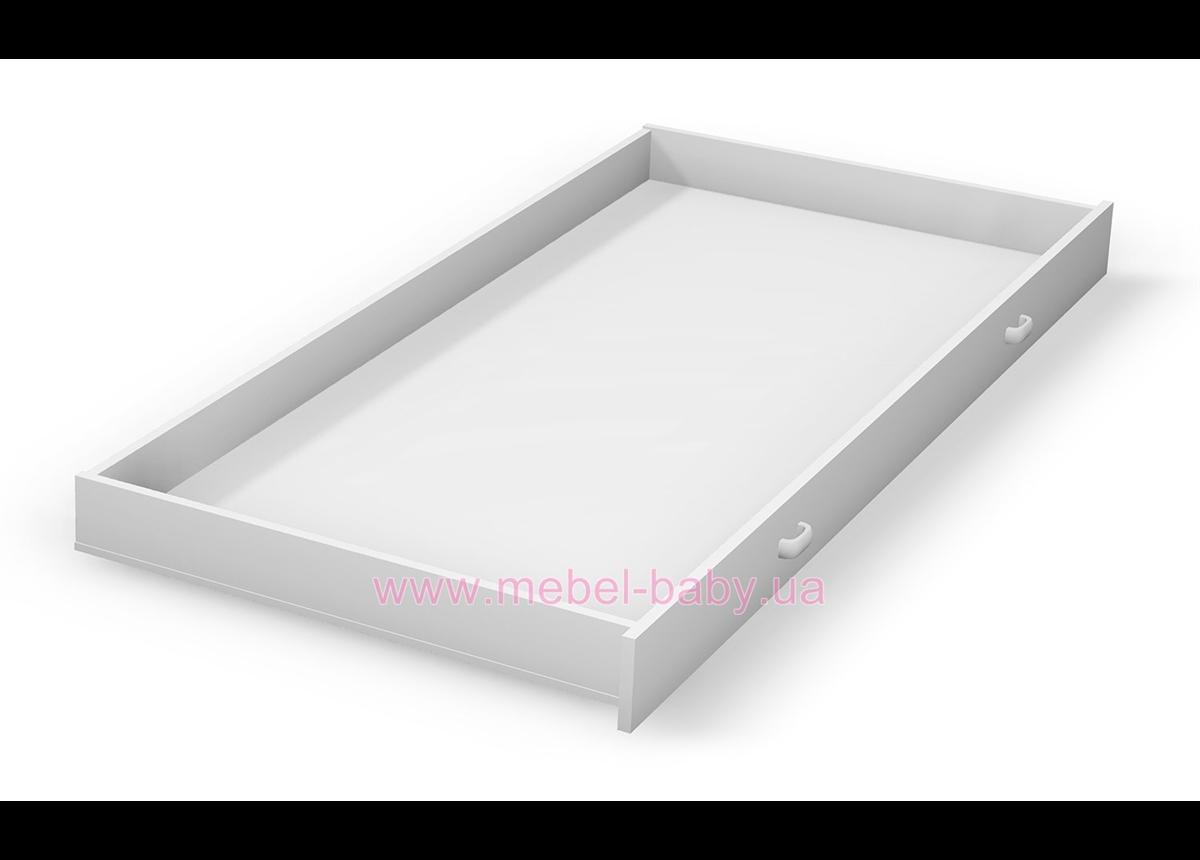 100_Выдвижной ящик к двухярусной кровати белый