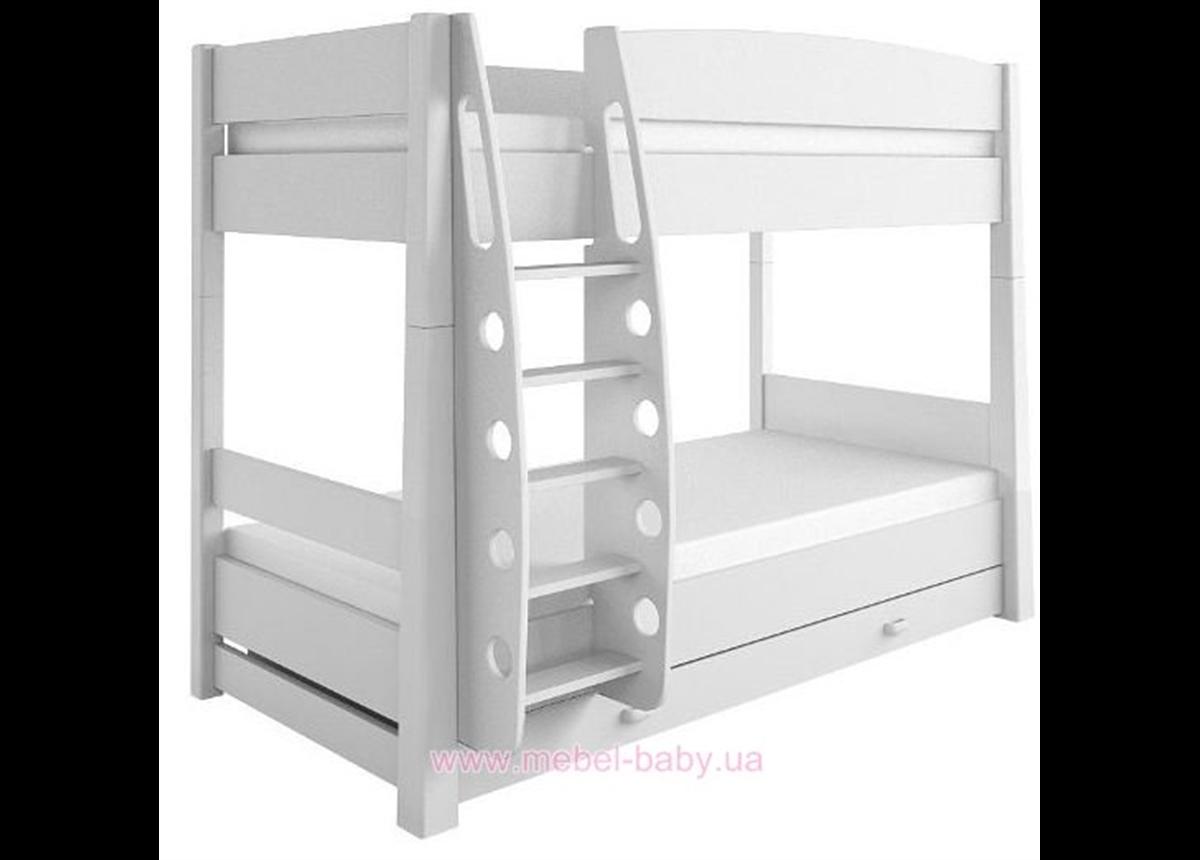 180_2-х ярусная кровать Dance Colour белый