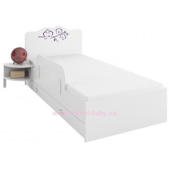 178_Кровать 90х200 Meblik Orchidea violet