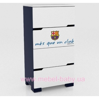 268 Комод 55 Barcelona club Meblik Белый