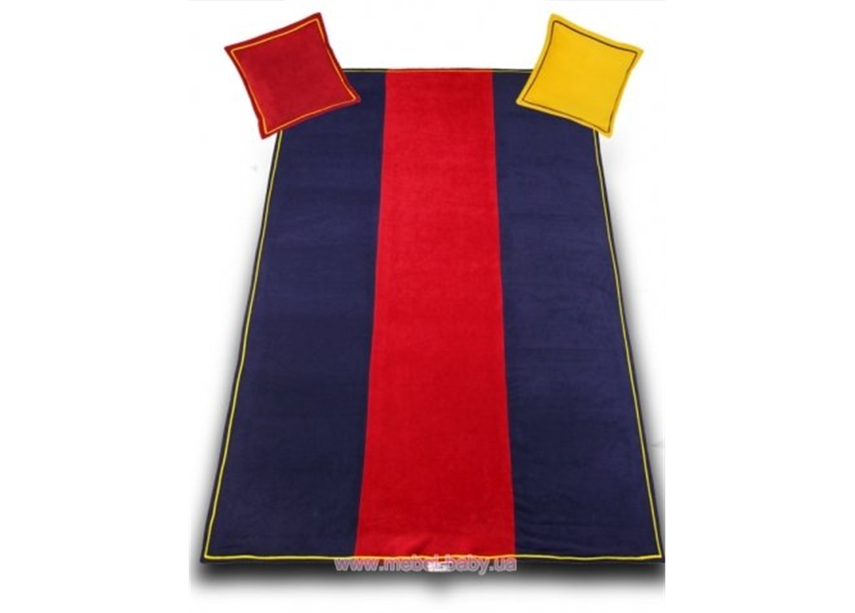 906_Покрывало и 2 подушки Barcelona club