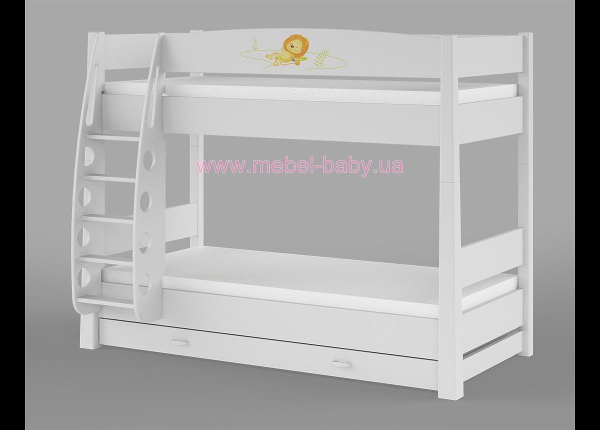 180_Двухъярусная кровать Happy animals