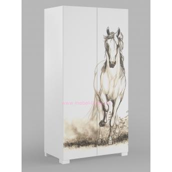 244_Шкаф 100 White Horse