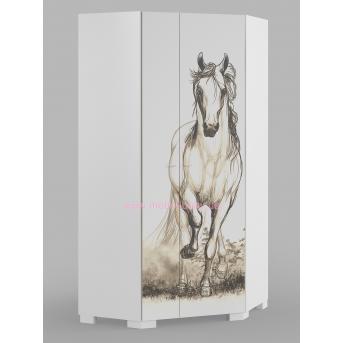 282_Шкаф угловой White Horse