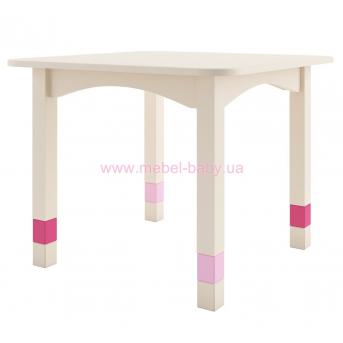 285_Стол 67 бежевый с розовыми вставками