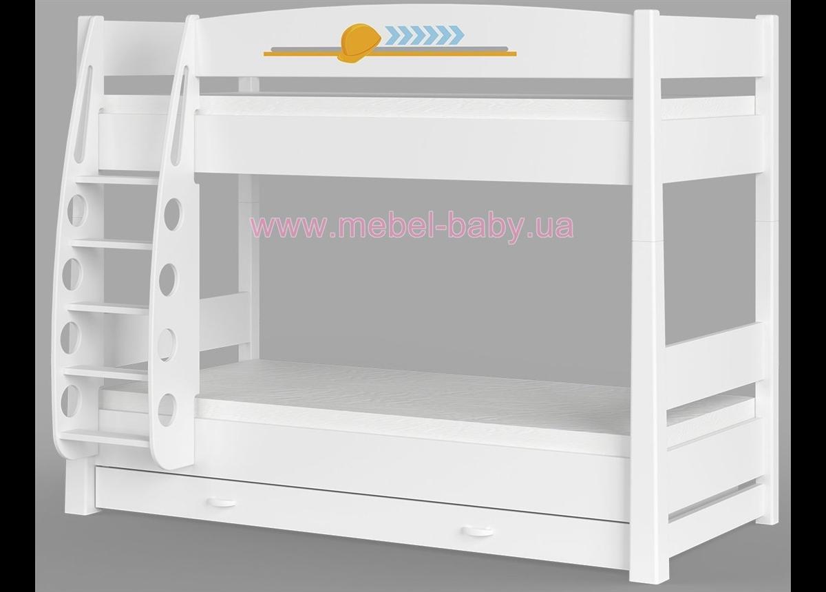 180_Двухъярусная кровать Cтроитель
