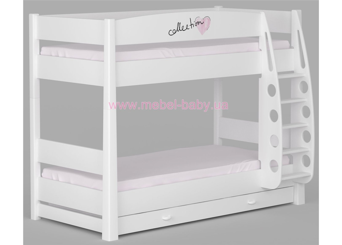 180_Двухъярусная кровать Fashion Pink