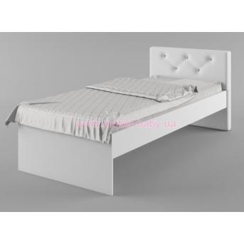 427_Кровать 90х190 мягкое изголовье Fashion Mint