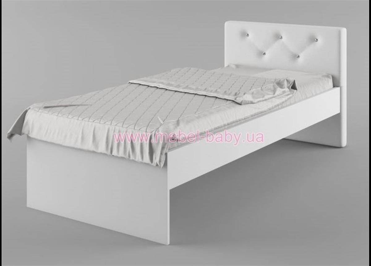 427_Кровать 90х190 мягкое изголовье Fashion Pink