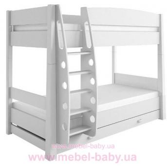 180_2-х ярусная кровать Frozen Meblik белый