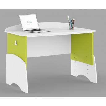 433_Письменный стол UP 120 Meblik Happy Animals green