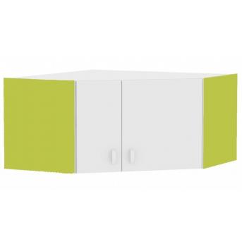 437_Антресоль шкафа углового белая Meblik Happy Animals green