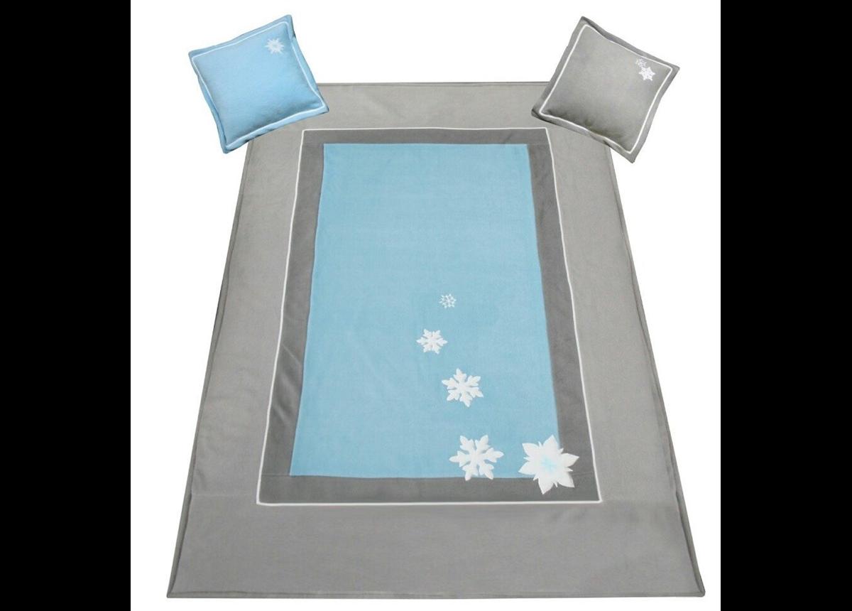 906_Покрывало и 2 подушки Frozen