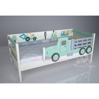 Кроватка детская декорированные Грузовичок